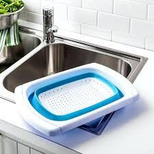over the sink colander kitchen stuff plus stretch light blue over the over the sink colander