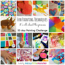 fun painting techniques for kids 35 day painting challenge focusing on the art process