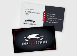 Troy Auto Service Logo Business Card Design Bushnell Design Studio
