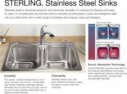 sterling 20025 pc na stainless steel ludington 32 undermount double basin 18 gauge stainless steel kitchen sink faucet com