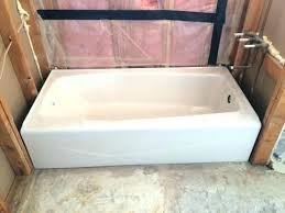 cast iron alcove tub tubs villager specs ft right drain rectangular bathtub biscuit 66 x 32 cast iron alcove tub soaking whirlpool deep