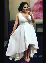 cheap plus size white dresses h1040 plus size simple high low summer wedding dresses
