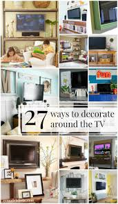 Decorating Walls With Remodelaholic 95 Ways To Hide Or Decorate Around The Tv