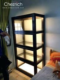 display cabinet lighting ideas. Shelf Lighting Ideas Display Cabinet Glass Cabinets  Black