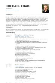 Resume Templates For Kitchen Manager Kitchen Manager Resume
