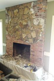 rock fireplace makeover faux antique photograph of stone