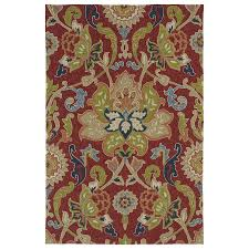 kaleen home and porch red indoor outdoor handcrafted nature area rug common 8