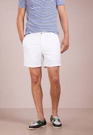 polo ralph lauren classic fit prepster shorts white