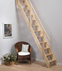 Excellent Images Of Home Interior Design With Space Saving Staircase :  Enchanting Image Of Home Interior