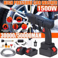 Máy rửa xe Máy rửa xe áp lực cao dùng pin Kèm 2 Pin Chính Hãng | Máy xịt rửa