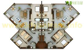 3d floor plan 2D floor plan 3D Site plan design 3D Floor Plan