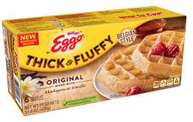 kellogg s eggo thick fluffy original waffles