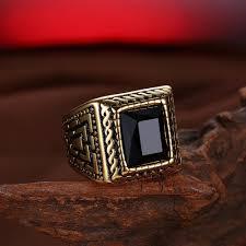 Волшебное <b>черное</b> каменное мужское <b>кольцо</b> Signet золотое ...