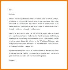 Formal Letter Format Sample Sample Professional Letter Formats Business Format Example Formal Cc ...