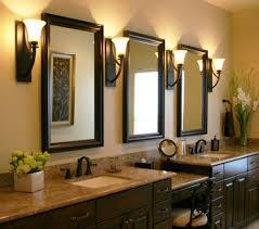 Bathroom Small White Bathroom Mirror Frame With Mirror Wood Framed