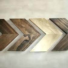 set of 4 small od chevron arrows arrow wall art home decor modern wood sculpture dec