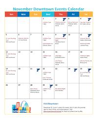 November Through November Calendars November Events Calendar Downtown Stl