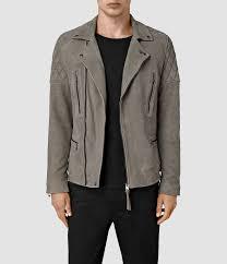 allsaints kenji suede biker jacket