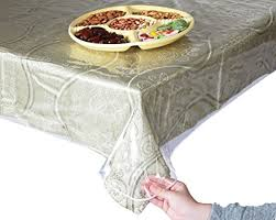 r l super clear and durable 100 vinyl tablecloth protector 70 round