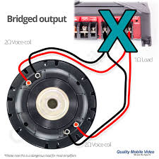 subwoofer impedance and amplifier output quality mobile video blog subwoofer parallel connection paralleled configuration means the positive side of one voice coil