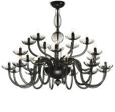 black modern murano glass chandelier flabanico