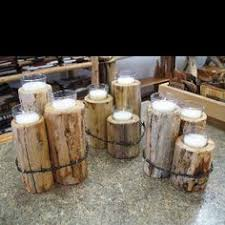 rustic candle holders fence post barb wire barn wood primitive