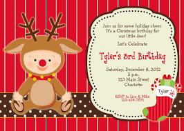 Christmas Birthday Party Invitations Christmas Birthday Party Invitation Reindeer Christmas Etsy