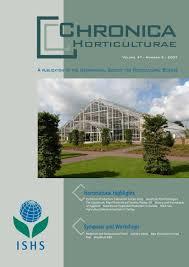chronica acta horticulturae