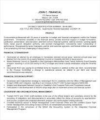 Resume Format Samples Federal Resume Template Federal Resume Format
