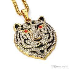 real diamond necklace mens elegant whole 2018 18k golden bear pendant necklace hip hop jewelry hip