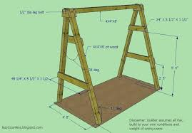 small swing set plans wood swing stands lazy on less outdoor swing frame wood a frame swing set plans
