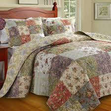 greenland home blooming prairie full mini bedspread set