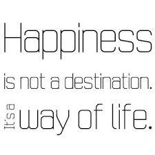 Happiness Is Not A Destination 2 Wandtattoo Sprüche Glück Dekoration
