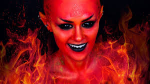 fire fairy devil demon makeup tutorial