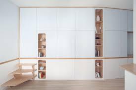 rivera cabin a custom wall unit that makes this apartment look spacious