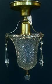 small single light crystal chandelier