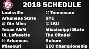 alabama 2018 football schedule preview projected record