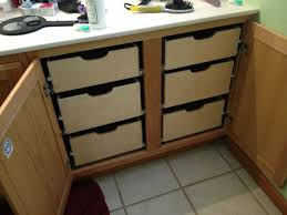bathroom and kitchen cabinet slide out drawers best 25 slide out shelves ideas on