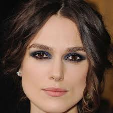 kiera knightley rocks the darker hue of blue find this pin and more on navy dress makeup
