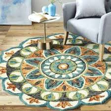 6 ft round rug dazzle teal green indoor area pad foot long runners