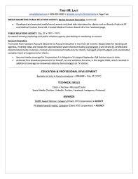 public relations resume example pr resume plus radio info