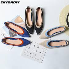 <b>TINGHON New Spring Women</b> Flats Shoes Mixed Colors Print ...