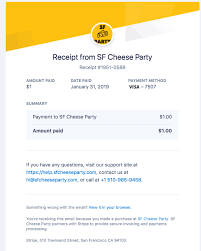A Receipt Send A Receipt After Accepting Payment On A Typeform