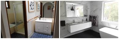 From S Drab To  Glam An Honest Account Of What Can - Before and after bathroom renovations