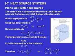 2 7 heat source systems plane wall with heat source the heat source is uniformly