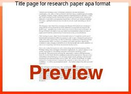 research paper apa style title page for research paper apa format college paper academic