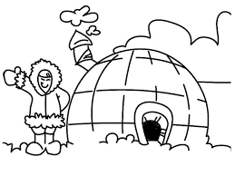 Small Picture Eskimo Girl Live in Igloo Coloring Pages Eskimo Girl Live in