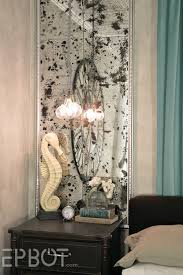 distressed mirrored furniture. DIY Antiqued Mirror Wall Panels (Or, \ Distressed Mirrored Furniture O