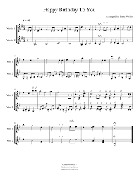 Red wing violin double stops red wing violin simple Happy Birthday Violin Duet Sheet Music For Violin Mixed Quartet Musescore Com