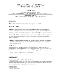 school teacher resume sample school teacher resume samples high job